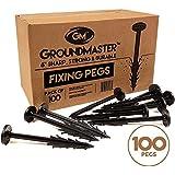 """Groundmaster 6""""jardín estacas–UV estabilizado anti-pull piquetas perfecto para forro polar, tejido Control de malezas tela, membrana, lonas, malla y cubierta"""