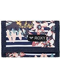 Roxy Small Beach Cartera de Dos Secciones, Mujer, Blanco/Azul (Medieval Blue
