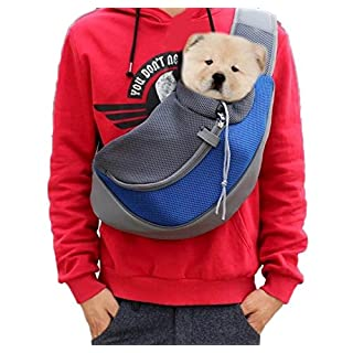 Ylen Portable Pet Dog Cat Puppy Carry Backpack Outdoor Travel Carrier Breathable Mesh Shoulder Bag Sling Pouch