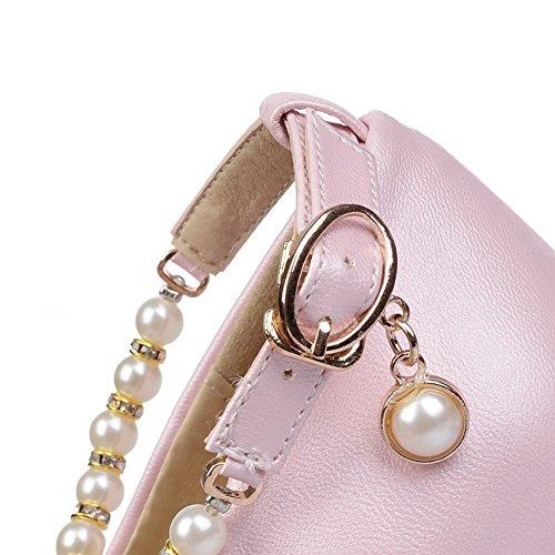 Corretta Colore Voguezone009 In Coda Di Chiaro Rotondo Solido Disegna Rosa Scarpe Microfibra Donna fFfO4