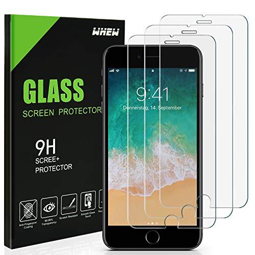 Whew Panzerglas Schutzfolie Kompatibel iphone 6 6s 7 8,[3 Stück] Panzerglasfolie mit 3D Touch kompatibel, 9H Härte, 2.5D Rand, HD Ultra-Klar Displayschutzfolie Anti-Kratzer,Anti-Fingerprint,Blasenfrei
