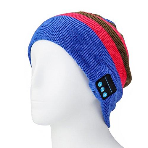 Green Knit Beanie Cap (Wireless Bluetooth Lautsprecher Beanie Hat–Handsfree Bluetooth Beanie Hat Sport Knit Cap, integriertem Mikrofon, Blue Rose Green)