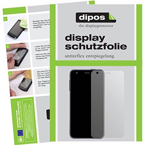 dipos I 6X Schutzfolie matt passend für Garmin vivosmart HR+ Folie Bildschirmschutzfolie