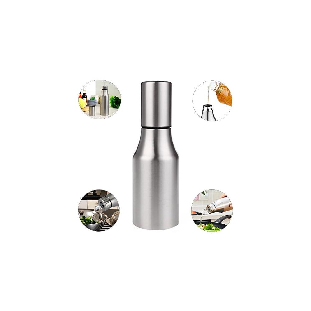 Xuanlan L Und Essig Dispenser Edelstahl L Topf L Essig Sauce Cruet L Flasche Auslaufsicher Mit Ausguss Auslauf Kche Werkzeuge