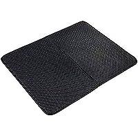 DIYARTS - Alfombrilla impermeable para arena de gato, doble capa de arena para gatos, con control de dispersión, para gatos, accesorios (30 x 30 cm), color negro