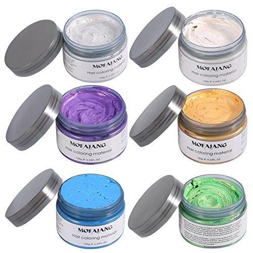 Styling Wax Wachs Kapillare 6 Farben / Set Einweg Hair Wax für Männer oder Frauen Party