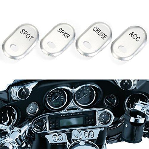 CICMOD Motorrad Schalterkappen KIT Schalter Cover Abdekcung für Harley Electra Road Glide (Harley Road Glide Zubehör)