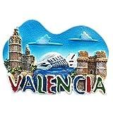 El Miguelete Valencia España Europa resina 3d fuerte imán para nevera recuerdo turista regalo chino imán hecho a mano creativo hogar y cocina decoración magnética