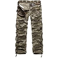 AYG Mens Casual Cargo Trousers Cargo Pants Cotton Military UK 29-40 Waist