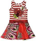 Desigual Mädchen Kleid Vest_EL AAIÚN, Rot (Carmin 3000), 116 (Herstellergröße: 5/6)