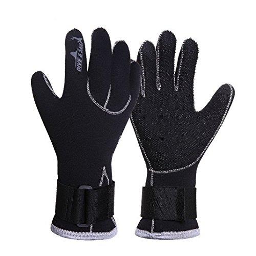 AOOPOO Tauchhandschuhe Neoprenhandschuhe Wetsuits Erwachsene Handschuhe 3 mm für Wassersport Angeln Tauchen Saliing Kajak Schwimmen 【L: Handflächenbreite 90mm-10mm】