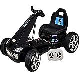 GoKart Elektroauto Kinderauto Kinderfahrzeug Fernbedienun LED USB Schwarz