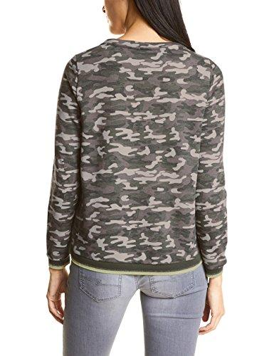 Street One Damen Sweatshirt Mehrfarbig (Soil Green 30801)