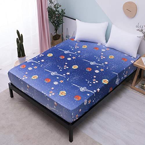 SUYUN Matratzenbezug, Anti-Milbe, staubdicht und staubdicht,Blau interstellar90 * 200 * 30cm