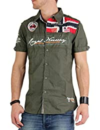 Geographical Norway - Camisa casual - para hombre verde caqui medium