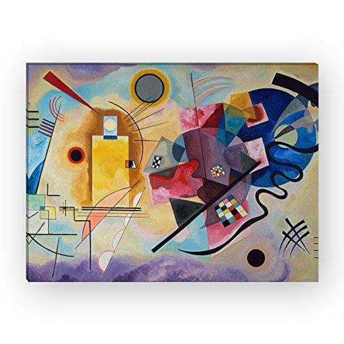 "Wandkings Leinwandbild ""Gelb Rot Blau"" von Wassily Kandinsky / 90 x 120 cm / auf Keilrahmen"