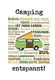 Camping campervan kastenwagen bus oldtimer zelten urlaub blechschild