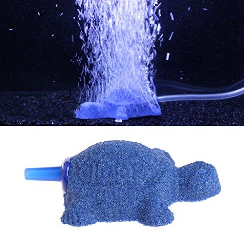 Dabixx Schildkröte Aquarium Bubble Air Stein Diffusor Aquarium Belüfter Sauerstoffpumpe Ornament Decor -