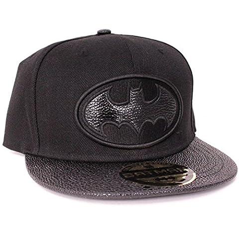 DC Comics Batman Leather Style Logo Snapback Cap