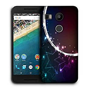 Snoogg Crystals Stars Printed Protective Phone Back Case Cover For LG Google Nexus 5X