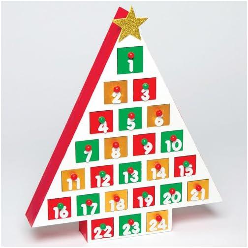 aad772aaae83f5 Baker Ross Calendario dell'Avvento in Legno per Bambini, da colorare e  Decorare a Natale ̵
