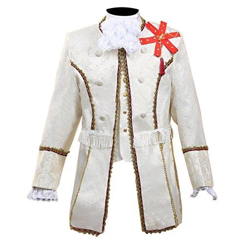 Partiss Herren Retro Europaeischen Mittelalter Renaissance Prinz Cosplay Kostuem Zweiteilige (Kostüm Für Männer Europäische)