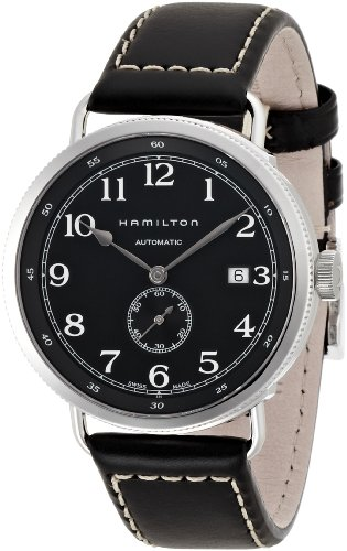 HAMILTON MEN'S KHAKI PIONEER AUTO 40MM LEATHER BAND AUTOMATIC WATCH H78415733