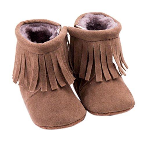 Tefamore Baby Schneestiefel Kleinkind Säugling weiche Sohle Prewalker Krippe Schuhe Kaffee