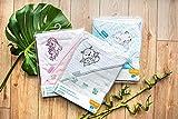 Baby Kind Kapuzenbadetuch Bambus Natur 100x100 cm GROSS und SUPERWEICH, Badetuch, Strandtuch, duschtuch, Handtuch (rosa)