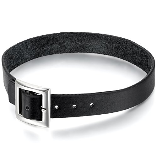 Oidea verstellbares Lederhalsband, Halskette, Retro, Punk, einfach, für Biker, Herren
