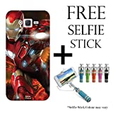 Hamee Marvel Licensed Hard Back Case Cover For Samsung Galaxy J7 with Free Selfie Stick Monopod – Combo 30