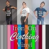 Kleidung Vinyl – PU Heat Transfer Print in 12 Farben Bügeln Starter Pack für T-Shirts Sports, einfaches Unkrauten, Schneiden und Pressen oder Bügeln, weiß, 50 x 50 cm