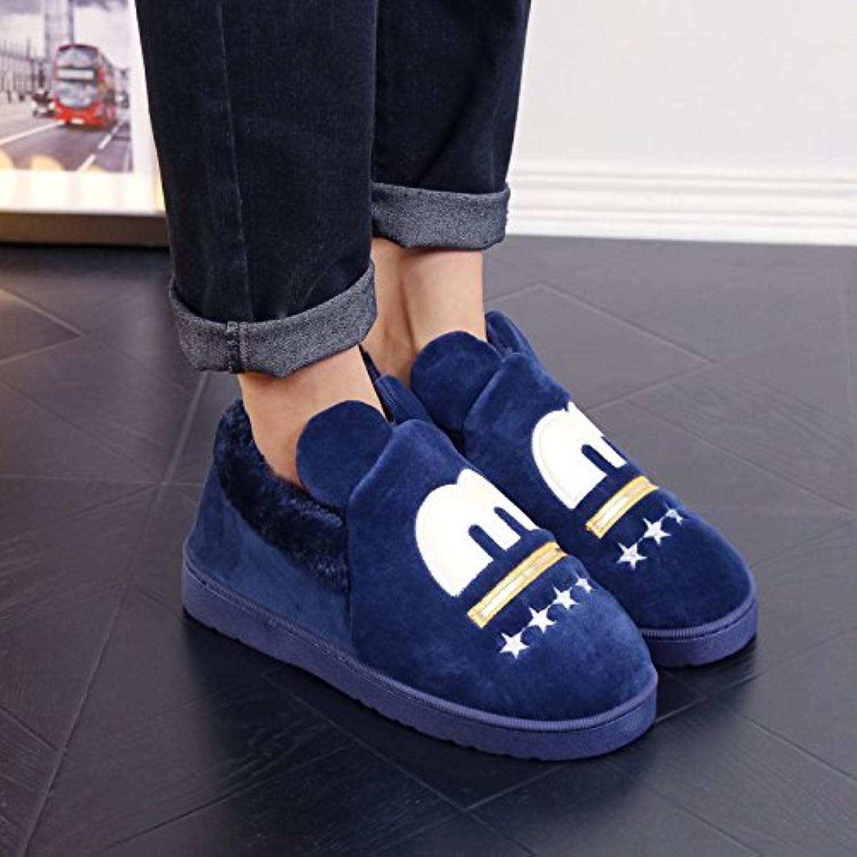 Y-Hui uomini cotone pantofole inverno Pantofole scarpe con borsa di slittamento ispessimento femmina inferiore...   Prestazioni Affidabili    Scolaro/Signora Scarpa
