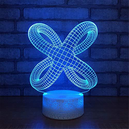 3D LED-Lampen, 7 Farben , Touch/Fernbedienung Art , USB/AA-Batterie von , Schlafzimmer Schreibtisch Tischdekoration Lampe für Kinder Erwachsene, abstrakte Idee