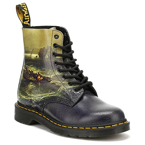 Dr. Martens 1f66 23592102, Bottines de Ville Mixte Adulte, Fischermen At Sea Multicolour (Multi Fisherman Christal Suede 23592102)