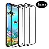 OEYEMAE [3 Pièces Verre Trempé pour iPhone XS/X, Film Protection Ecran iPhone XS/X de [Haute Définition] [Anti-Rayures] [9H Dureté] [sans Bulles] [3D Touch] Screen Protector pour iPhone XS/X (Noir)