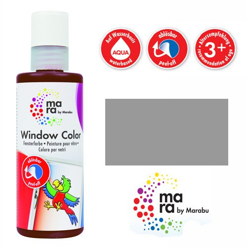 mara by Marabu Window Color, 80 ml, grau VE = 1