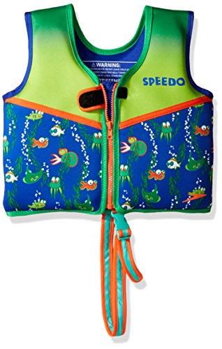 Speedo Kids 'UPF 50+ beginnen zu schwimmen Bedruckte Neopren Schwimmen Weste, unisex, Printed Neoprene Swim Vest, saphirblau