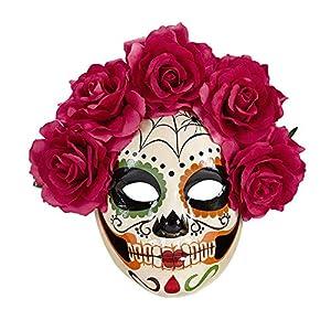 WIDMANN?Máscara Dia de los muertos, Rose Womens, talla única, vd-wdm04785