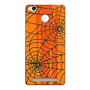 CrazyInk Premium 3D Back Cover for Xiaomi Redmi 3s Prime - Spider Web Design