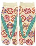 Damen Tabi Socken Zehensocken Japanische Chrysanthemen