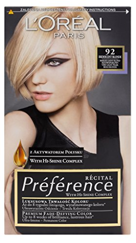L'Oreal Paris Feria Preference 92 Iridescent Blonde Haar Farbe -
