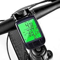 Ordinateur de vélo, Mture Compteur de Vélo Sans Fil pour Bicyclette, Multifonction Suivi Distance, Vitesse, Temps, Caloric, Température, étanche, Grand Rétro-éclairage LCD, Multi Fonction Odomètre de Vélo