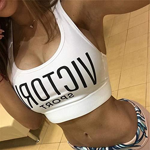 LDDD Sport-BHS Frauen Sport-BHS Atmungsaktives Top Running Gym Yoga Fitness Tank Top Damen Gepolsterte Nahtlose Crop Bra Workout-BHS (Color : White, Size : S)