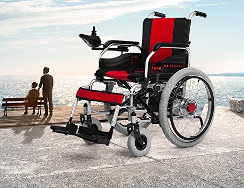 BTHDPP Elektrischer Rollstuhl Aluminiumlegierung Die Tragbaren Alten Wagen Faltet ältere Behinderte Tragbarer Rollstuhl Roller