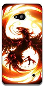 The Racoon Lean Firesome hard plastic printed back case / cover for Microsoft Lumia 640