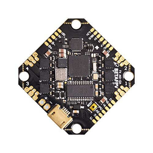BETAFPV Toothpick F4 2-4S AIO Brushless Flight Controller BLHELI_S 12A ESC No RX OSD Smart Audio with XT30 Cable for Brushless Toothpick Carbon Fiber Racing Drone Like HX100 FPV Quadcopter
