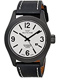 Glycine Incursore Automatic Black PVD Steel Mens Strap Swiss Watch Calendar 3874.91 LB9B