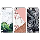 idlehour iPhone 6 / 6S Plus 5.5 Zoll Handyhülle Schutzhülle, Gemalt Marmor Handyhülle Case,3 Stück Silikon Case TPU Ultra Dün