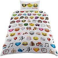 Emoji Parure 1 personne housse de couette 137x198 cm + taie d'oreiller 50 X 75 cm